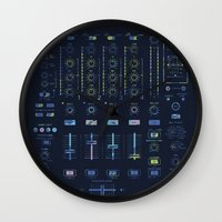 springsteen Wall Clocks featuring DJ Mixer by Sitchko