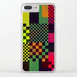 8bit Raster Clear iPhone Case