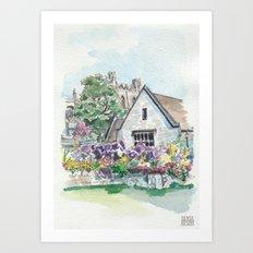 Oxford: Memorial Garden Art Print
