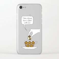time for fika Clear iPhone Case