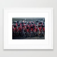 bikes Framed Art Prints featuring bikes by The Botanist's Daughter
