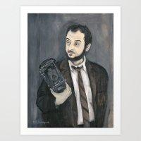 stanley kubrick Art Prints featuring Stanley Kubrick by Melinda Hagman