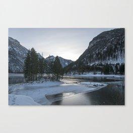 Snowy mountains Canvas Print
