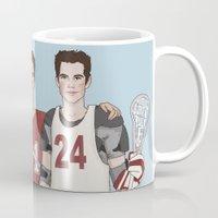 stiles stilinski Mugs featuring Scott McCall/Stiles Stilinski/Kira Yukimura Lacrosse by vulcains