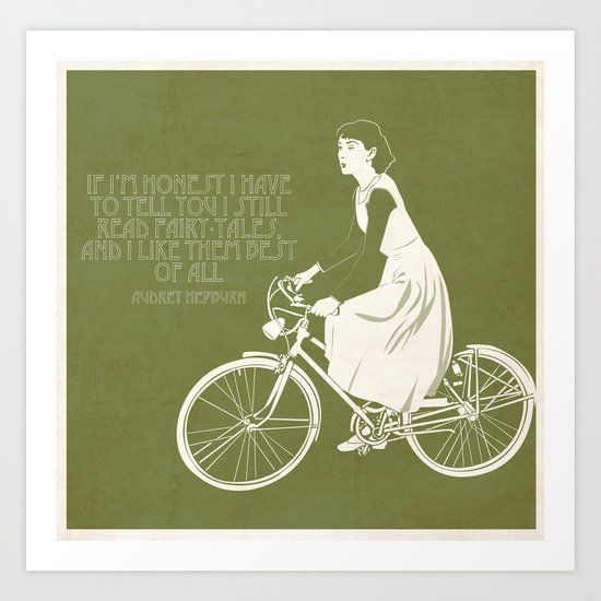 Audrey always knows what to say. Art Print
