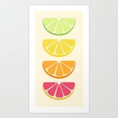 Half Citrus Art Print