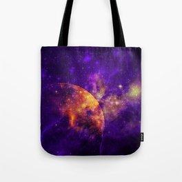 Planet, Nebula and Stars Tote Bag