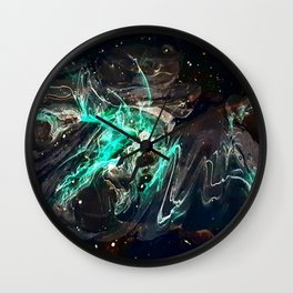 Peering into the darkness Wall Clock