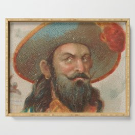 Vintage Henry Morgan the Pirate Illustration (1888) Serving Tray