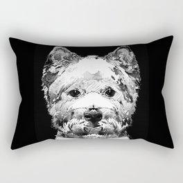 Black And White West Highland Terrier Dog Art Sharon Cummings Rectangular Pillow