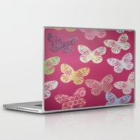 butterflies Laptop & iPad Skins featuring Butterflies  by Sammycrafts