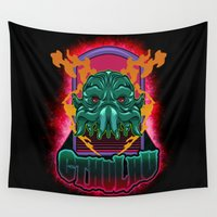 cthulhu Wall Tapestries featuring CTHULHU by Gerkyart.
