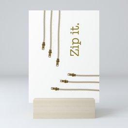 Zip It Mini Art Print