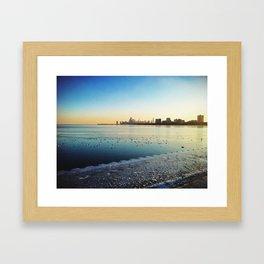 Blue Chicago Framed Art Print
