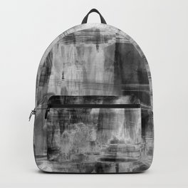 Black and White Brush Strokes Painting (2) // Modern Trending Minimal Simple Beautiful Distressed Backpack