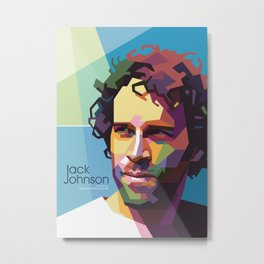 Jack Johnson WPAP Metal Print