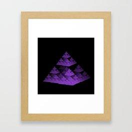 3D Fractal Pyramid Framed Art Print