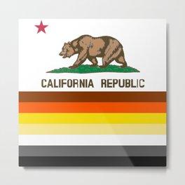 Bear flag art for California  Metal Print