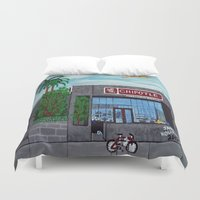 hollywood Duvet Covers featuring Chipotle - Hollywood by Jake Hollywood