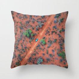 Terracotta Roads Throw Pillow