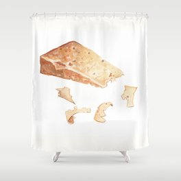 Parmigiano-Reggiano Cheese Shower Curtain