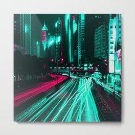 Future City Trails Metal Print