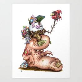 Pufty Gigrager A Marshfellow riding a Stomp Art Print