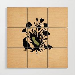 California - State Papercut Print Wood Wall Art