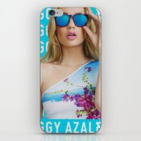 iggy azalea iPhone & iPod Skins featuring Iggy Azalea Blue by Illuminany