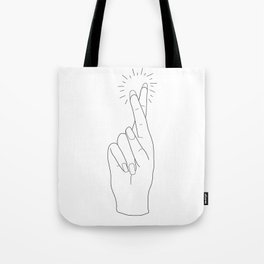Fingers Crossed Tote Bag