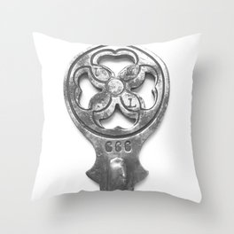 antique and unique key I Throw Pillow