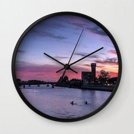 Sunset at Pisa, Italy  Wall Clock