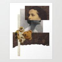 teddy bear Art Prints featuring Teddy by KatinkaHanselman