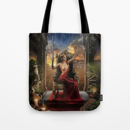 XI. Justice Tarot Card Illustration (Color) Tote Bag
