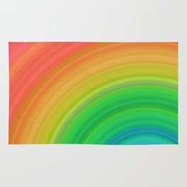Bright Rainbow | Abstract gradient pattern Rug