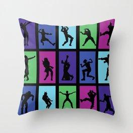 Fort Battle Dance Nite Royale Throw Pillow