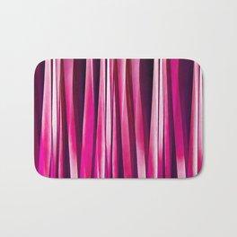 Burgundy Rose Stripy Lines Pattern Bath Mat