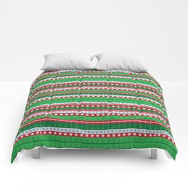 Santa's Special Delivery Repeating Pattern Comforters