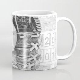 Softball (black and white) Coffee Mug
