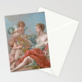 François Boucher - Allegory of Music Stationery Cards