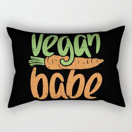 Vegan Babe, Girl, Plant Based Design Rectangular Pillow