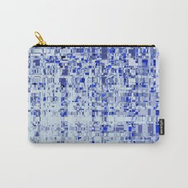 Abstract Architecture Blue Carry-All Pouch