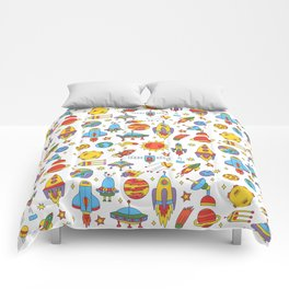 Outer space cosmos pattern Comforters