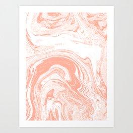 Marble coral pastel 3 Suminagashi watercolor pattern art pisces water wave ocean minimal design Kunstdrucke