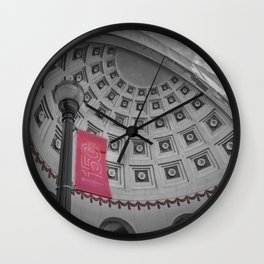 Ohio State Football Stadium Black White Print Wall Clock