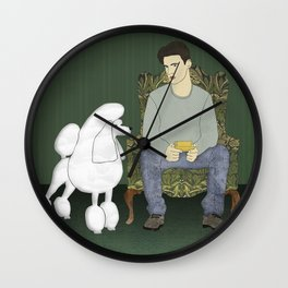 Meet the Poodle Wall Clock