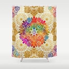 Bohemian 1960's Mandala Pattern of Peace Shower Curtain