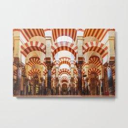 Mosque of Cordoba Metal Print