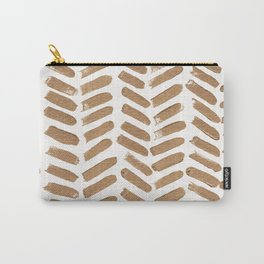 Gold Chevron Carry-All Pouch