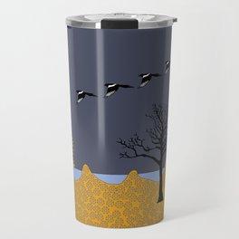 Magpies in sunset Travel Mug